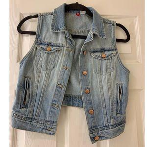 H&M cropped denim vest